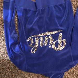 PINK zip up velvet jacket